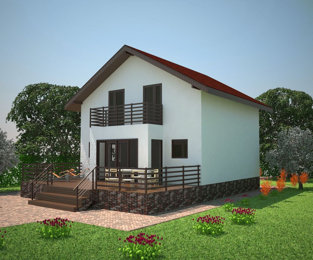 Монтаж нового двухэтажного дома